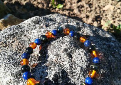 oeil de faucon ambre lapis-lazuli