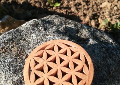 médaillon en bois fleur de vie