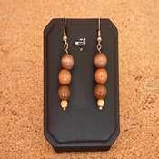 boucles d oreilles bois marron- bobm - Copie