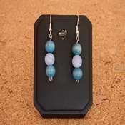 boucles d oreilles bois pierre bleue- bobpb - Copie
