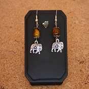 boucles d oreilles pierre et elephants- bope - Copie