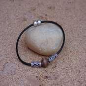 bracelet cuir avec perle en bois- bcpb - Copie