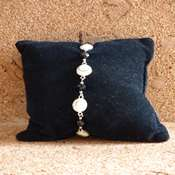 bracelet oeil ste lucie perles noires- boslpn